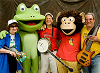 The Bossy Frog Band's HAPPY NEW YEAR Concert plus Musical Instrument Petting Zoo