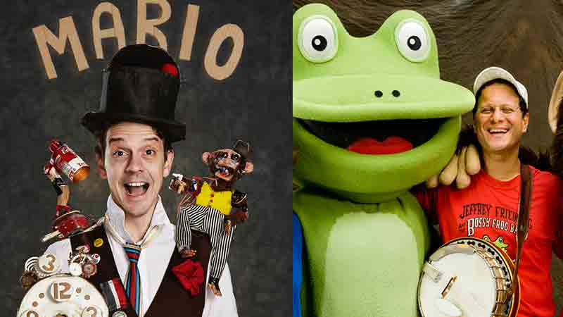 Mario The Maker Magician and The Bossy Frog Band