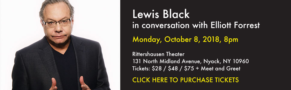 Lewis Black in conversation with Elliott Forrest